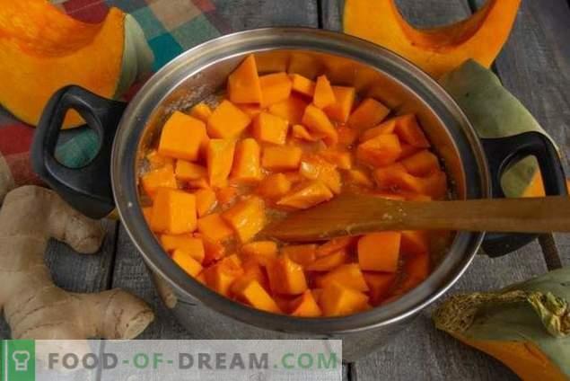 Marmelade chauffante de citrouille au gingembre