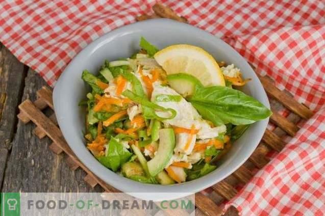 Salade de poulet à l'avocat et au concombre