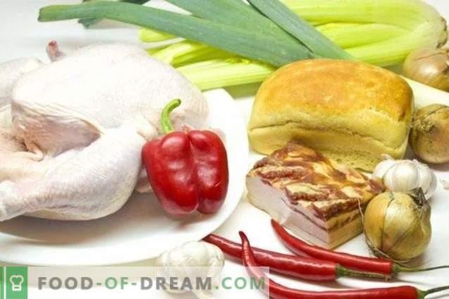 Poulet farci aux légumes et à la pancetta