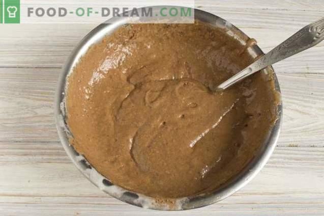 Gâteau maison à la crème sure zébrée
