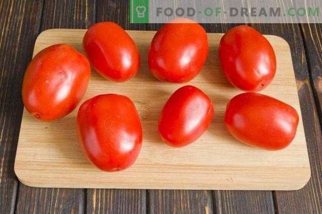 Marinated Tomatoes with Carrot Topper