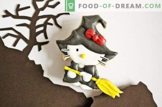 biscuits de sorcière de Halloween Kitty