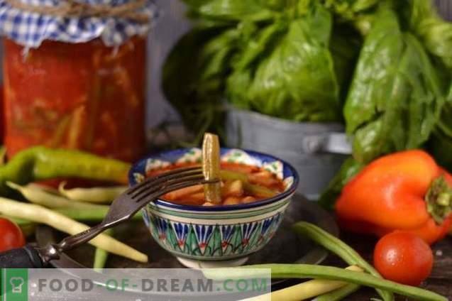 Haricots verts à la tomate pour l'hiver