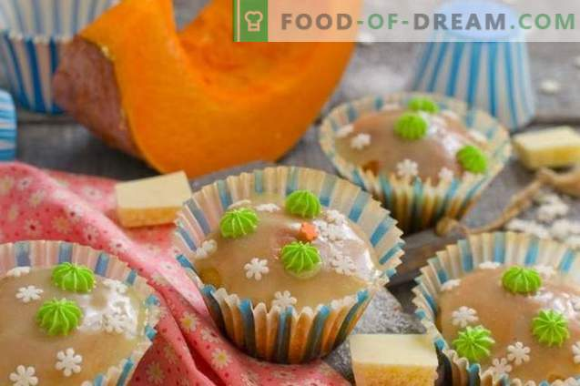Muffins aux pépites de chocolat blanc citrouille