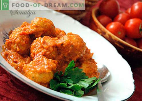 Boulettes de viande à la sauce - recettes éprouvées. Comment bien et savoureux boulettes de viande cuites avec de la sauce.