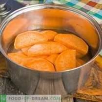 Patates douces frites