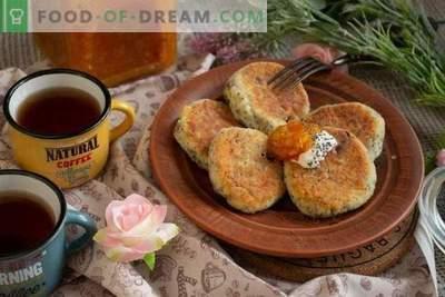 Cheesecakes aux graines de pavot et aux raisins secs - le goût de l'enfance