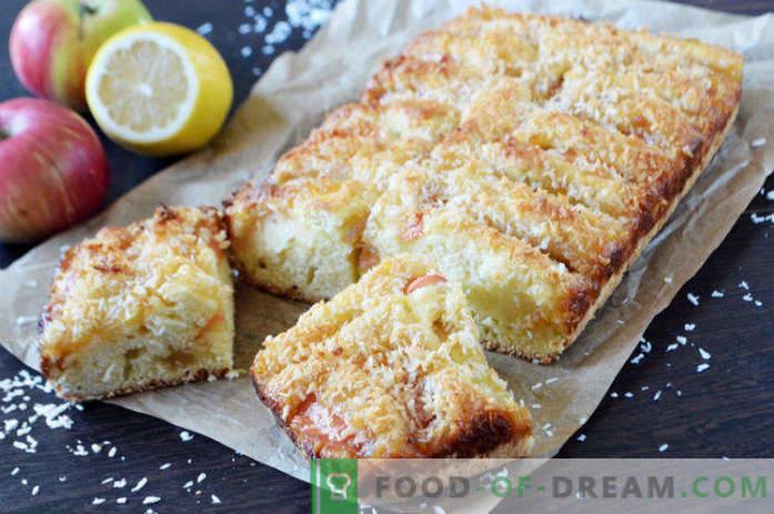 Tarte aux pommes à la confiture de citron, recette au four