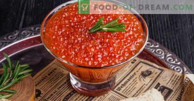 Comment mariner correctement et savoureux le caviar rouge à la maison