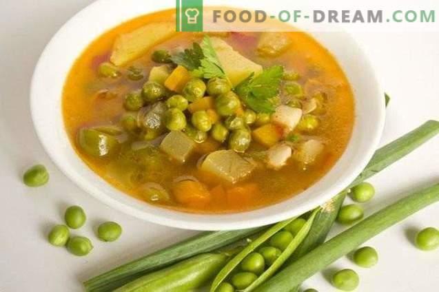 Soupe aux pois verts