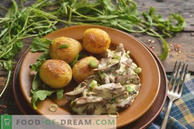Rognons de porc à la crème sure avec oignons et pommes de terre