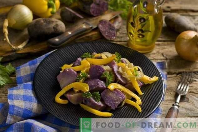 Salade de carême aux pommes violettes