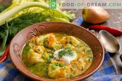 Soupe de poisson aux quenelles de pomme de terre