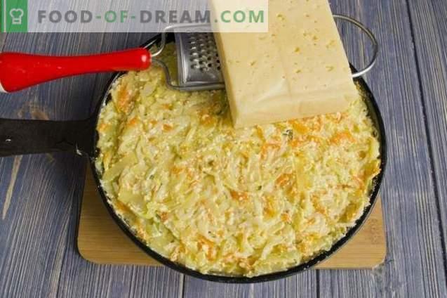 Casserole de pâtes au fromage cottage et au chou