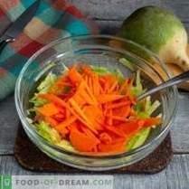 Salade saine de radis vert aux carottes