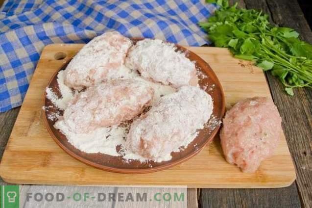 Côtelettes de poulet Kiev à base de viande hachée - une option de cuisson facile
