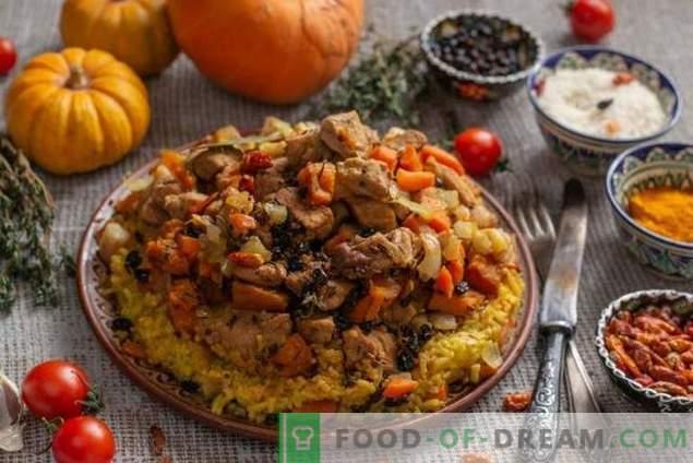 Pilaf friable avec citrouille et viande à la manière azerbaïdjanaise