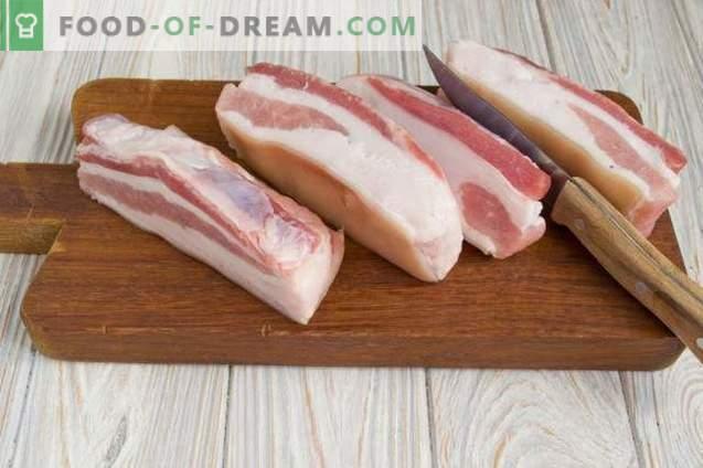 Poitrine de porc salée dans l'emballage