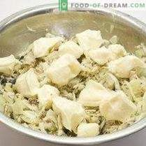 Salade de poisson avec biscuits au céleri et à la farine de seigle