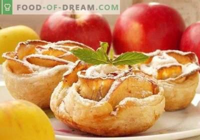 Roses de pomme au four à partir de pâte feuilletée