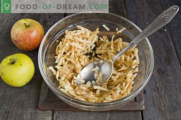 Gâteaux de fromage diététiques aux pommes