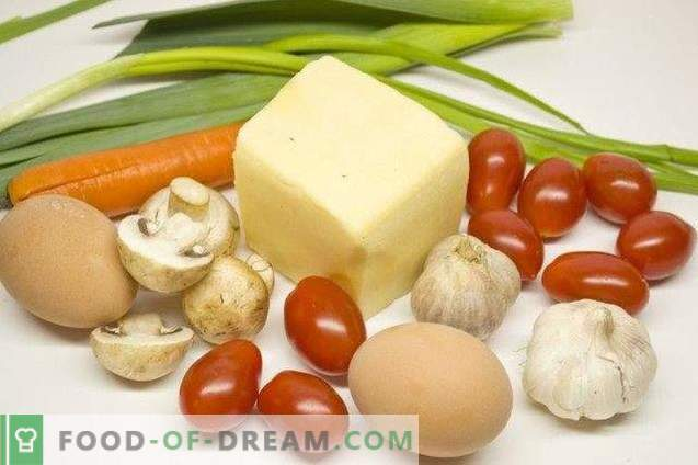 Ensalada festiva con queso y ajo al horno