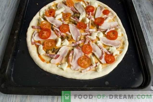 Mielių pica su kumpiu ir pancetomis krosnyje