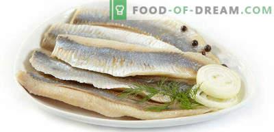 Comment saler le hareng à la maison est savoureux et rapide, en marinade et en salaison sèche
