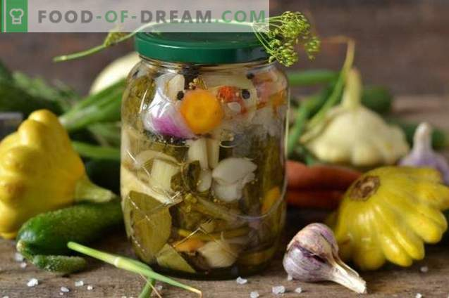 Salade pour l'hiver aux patissons «Notre jardin»
