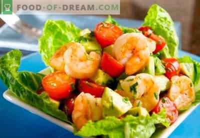 Salade à l'avocat et aux crevettes - des recettes éprouvées. Comment faire cuire une salade à l'avocat et aux crevettes.