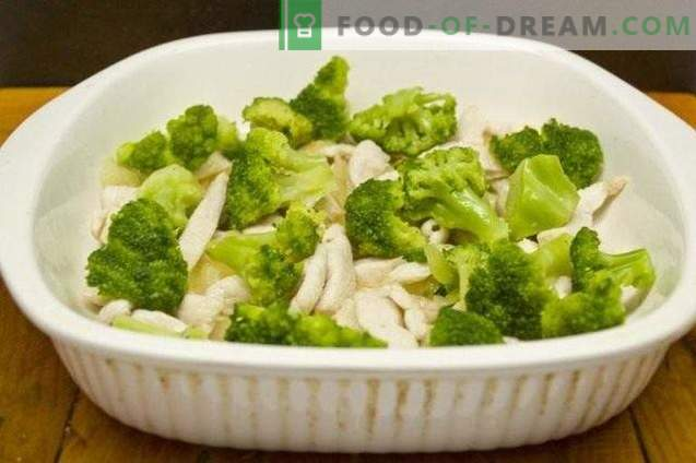 Casserole de brocoli et filet de poulet