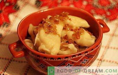 Dumplings avec pommes de terre et chou: rapide, savoureux, bon marché. Une sélection des meilleures recettes de dumplings diététiques avec pommes de terre et chou
