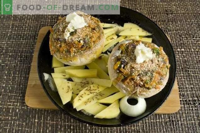 Champignons farcis cuits au four