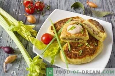 Pommes de terre zrazy - galettes de pommes de terre au foie de poulet