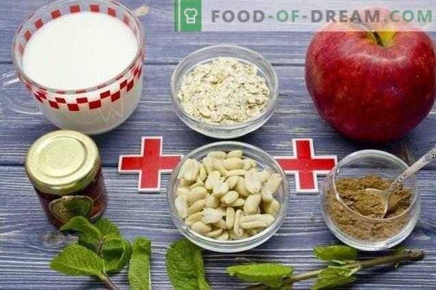 Smoothies Pomme et Hercule - Petit déjeuner santé