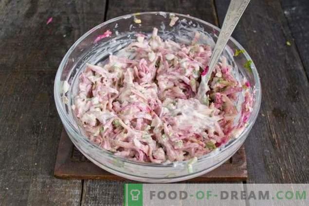 Salade de radis de printemps avec œuf et mayonnaise