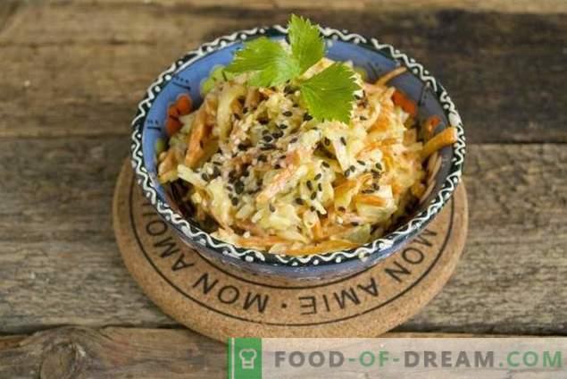 Salade de poulet facile au fromage et aux carottes