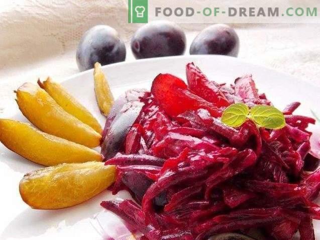 Salade sucrée aux prunes et betteraves