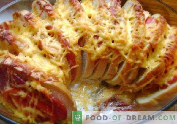 20 types de sandwiches pour la table de fête, recettes avec photos, avec poisson rouge, hareng, caviar, chaud, canapés