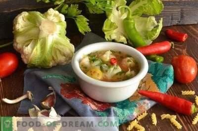 Soupe végétarienne au chou-fleur