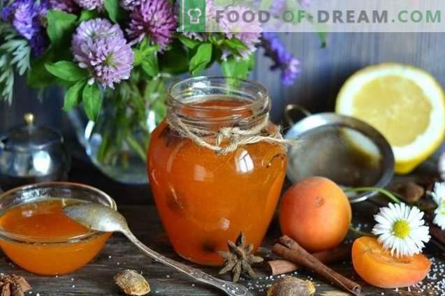 Confiture d'abricot et de citron