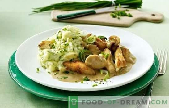 Fricassée de poulet et champignons: recettes étape par étape. Comment faire cuire une fricassée exclusive de poulet avec des champignons et des légumes