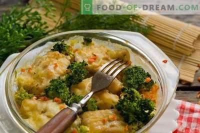 Délicieuse goberge avec des légumes au four