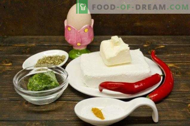 Fromage à la crème fait maison avec chili et épinards