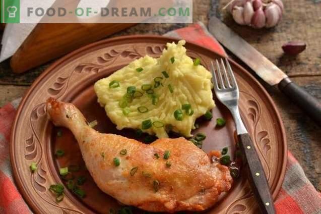 Cuisse de poulet dans une casserole