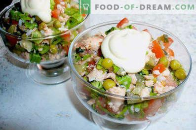 Salade de poisson bouilli - recettes pour la semaine et les jours fériés