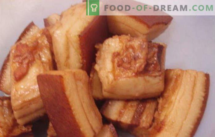 Lard en saumure - la recette la plus délicieuse dans un bocal chaud ou froid pour l'hiver