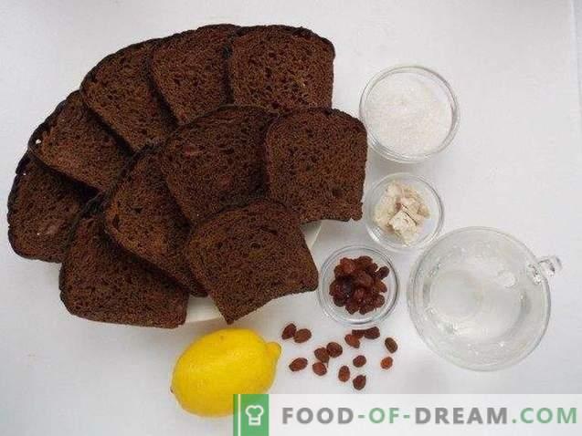 pain de seigle fait maison Kvass