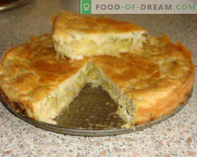 Sandwich au chou, tourte au chou à partir de pâte sablée, recettes