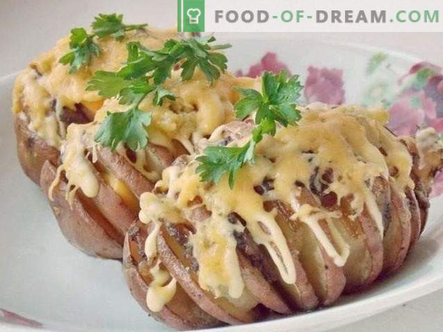 Kartoffelharmonika Ofenkartoffeln mit Schmalz unter Käsekruste